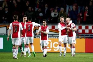 Ajax boekt een prima zege op SC Heerenveen. © ANP