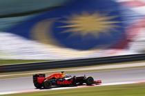 Daniel Ricciardo tijdens de GP van Maleisië. © Red Bull