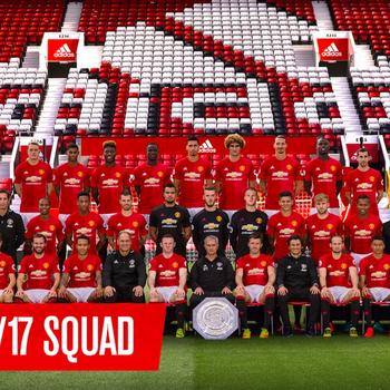 De selectie van Manchester United, zonder FA Cup. © twitter Manchester United