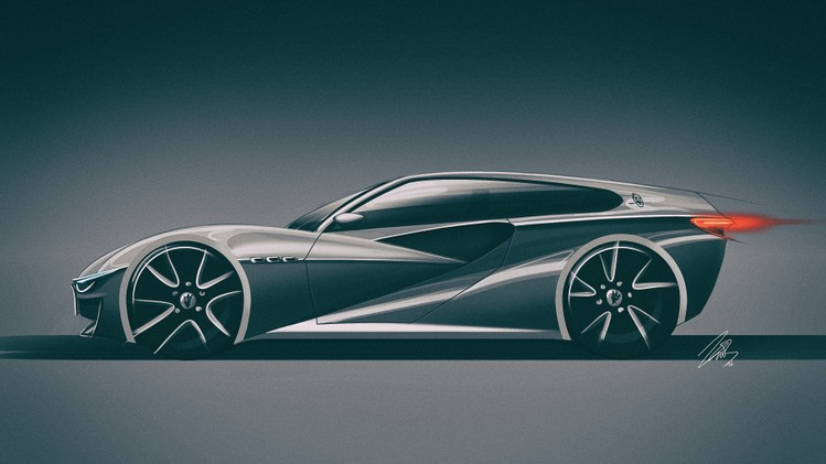 Maserati Shooting Brake ontwerp Vitto Bonnemayer