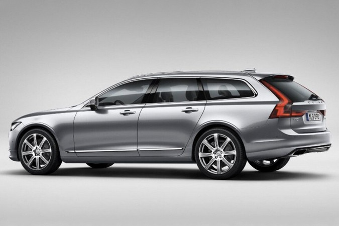 De Volvo V90 in de gelekte afbeelding van The Sunday Times.