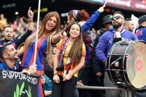 Een aantal supporters van FC Barcelona © AFP