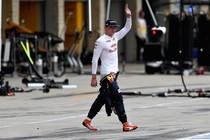 Max Verstappen na zijn uitvalbeurt. © Red Bull