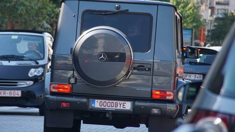 Kenteken Mercedes G Goodbye